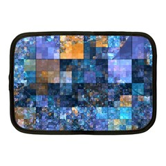 Blue Squares Abstract Background Of Blue And Purple Squares Netbook Case (medium)