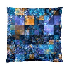Blue Squares Abstract Background Of Blue And Purple Squares Standard Cushion Case (Two Sides)