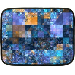 Blue Squares Abstract Background Of Blue And Purple Squares Fleece Blanket (Mini)