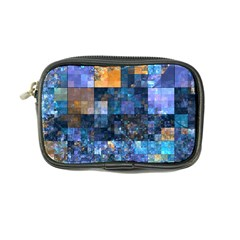 Blue Squares Abstract Background Of Blue And Purple Squares Coin Purse