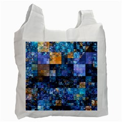 Blue Squares Abstract Background Of Blue And Purple Squares Recycle Bag (Two Side)
