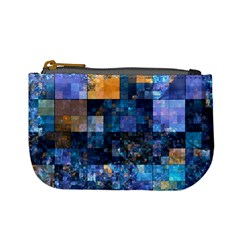 Blue Squares Abstract Background Of Blue And Purple Squares Mini Coin Purses