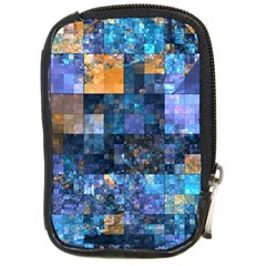 Blue Squares Abstract Background Of Blue And Purple Squares Compact Camera Cases