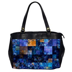 Blue Squares Abstract Background Of Blue And Purple Squares Office Handbags