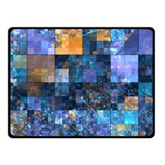 Blue Squares Abstract Background Of Blue And Purple Squares Fleece Blanket (Small)