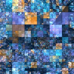 Blue Squares Abstract Background Of Blue And Purple Squares Magic Photo Cubes