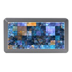 Blue Squares Abstract Background Of Blue And Purple Squares Memory Card Reader (Mini)