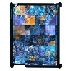 Blue Squares Abstract Background Of Blue And Purple Squares Apple Ipad 2 Case (black)