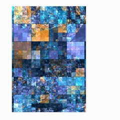 Blue Squares Abstract Background Of Blue And Purple Squares Large Garden Flag (two Sides)