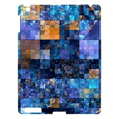 Blue Squares Abstract Background Of Blue And Purple Squares Apple iPad 3/4 Hardshell Case