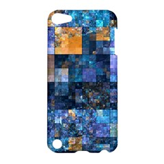 Blue Squares Abstract Background Of Blue And Purple Squares Apple Ipod Touch 5 Hardshell Case
