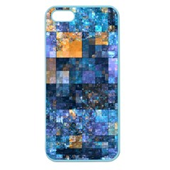 Blue Squares Abstract Background Of Blue And Purple Squares Apple Seamless iPhone 5 Case (Color)