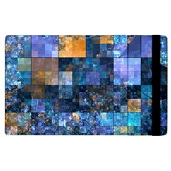 Blue Squares Abstract Background Of Blue And Purple Squares Apple Ipad 2 Flip Case