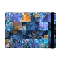 Blue Squares Abstract Background Of Blue And Purple Squares Apple Ipad Mini Flip Case