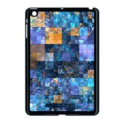 Blue Squares Abstract Background Of Blue And Purple Squares Apple Ipad Mini Case (black)