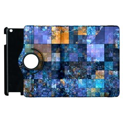 Blue Squares Abstract Background Of Blue And Purple Squares Apple iPad 3/4 Flip 360 Case