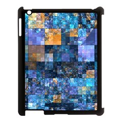 Blue Squares Abstract Background Of Blue And Purple Squares Apple iPad 3/4 Case (Black)