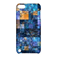 Blue Squares Abstract Background Of Blue And Purple Squares Apple iPod Touch 5 Hardshell Case with Stand