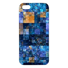 Blue Squares Abstract Background Of Blue And Purple Squares Apple Iphone 5 Premium Hardshell Case