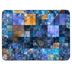 Blue Squares Abstract Background Of Blue And Purple Squares Samsung Galaxy Tab 7  P1000 Flip Case