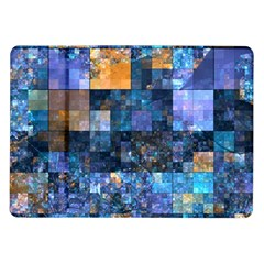 Blue Squares Abstract Background Of Blue And Purple Squares Samsung Galaxy Tab 10 1  P7500 Flip Case