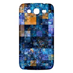 Blue Squares Abstract Background Of Blue And Purple Squares Samsung Galaxy Mega 5 8 I9152 Hardshell Case