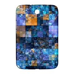 Blue Squares Abstract Background Of Blue And Purple Squares Samsung Galaxy Note 8.0 N5100 Hardshell Case