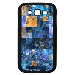 Blue Squares Abstract Background Of Blue And Purple Squares Samsung Galaxy Grand DUOS I9082 Case (Black)