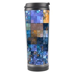 Blue Squares Abstract Background Of Blue And Purple Squares Travel Tumbler