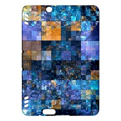 Blue Squares Abstract Background Of Blue And Purple Squares Kindle Fire Hdx Hardshell Case