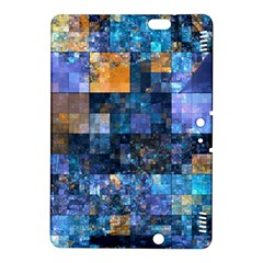 Blue Squares Abstract Background Of Blue And Purple Squares Kindle Fire HDX 8.9  Hardshell Case
