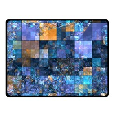 Blue Squares Abstract Background Of Blue And Purple Squares Double Sided Fleece Blanket (Small)
