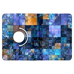 Blue Squares Abstract Background Of Blue And Purple Squares Kindle Fire Hdx Flip 360 Case