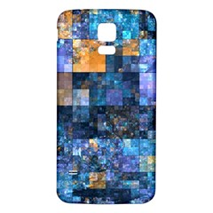 Blue Squares Abstract Background Of Blue And Purple Squares Samsung Galaxy S5 Back Case (white)