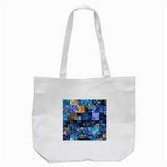 Blue Squares Abstract Background Of Blue And Purple Squares Tote Bag (white)