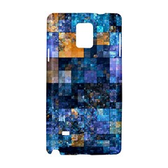 Blue Squares Abstract Background Of Blue And Purple Squares Samsung Galaxy Note 4 Hardshell Case