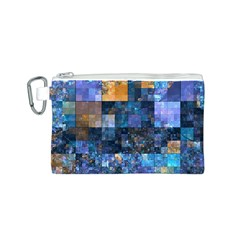 Blue Squares Abstract Background Of Blue And Purple Squares Canvas Cosmetic Bag (s)