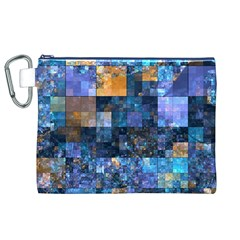 Blue Squares Abstract Background Of Blue And Purple Squares Canvas Cosmetic Bag (XL)