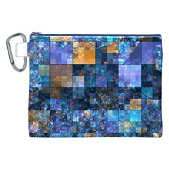 Blue Squares Abstract Background Of Blue And Purple Squares Canvas Cosmetic Bag (xxl)