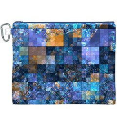 Blue Squares Abstract Background Of Blue And Purple Squares Canvas Cosmetic Bag (XXXL)