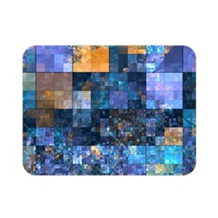 Blue Squares Abstract Background Of Blue And Purple Squares Double Sided Flano Blanket (Mini)
