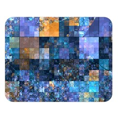 Blue Squares Abstract Background Of Blue And Purple Squares Double Sided Flano Blanket (Large)