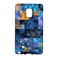 Blue Squares Abstract Background Of Blue And Purple Squares Galaxy Note Edge