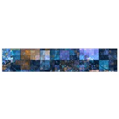 Blue Squares Abstract Background Of Blue And Purple Squares Flano Scarf (small)