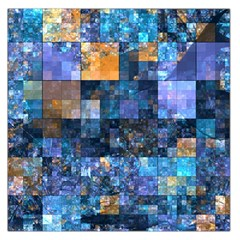 Blue Squares Abstract Background Of Blue And Purple Squares Large Satin Scarf (square)