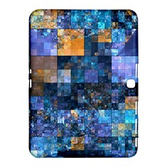 Blue Squares Abstract Background Of Blue And Purple Squares Samsung Galaxy Tab 4 (10.1 ) Hardshell Case