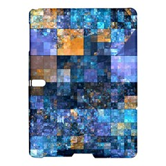 Blue Squares Abstract Background Of Blue And Purple Squares Samsung Galaxy Tab S (10 5 ) Hardshell Case