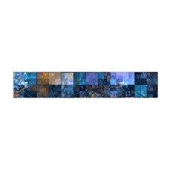 Blue Squares Abstract Background Of Blue And Purple Squares Flano Scarf (mini)