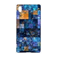 Blue Squares Abstract Background Of Blue And Purple Squares Sony Xperia Z3+