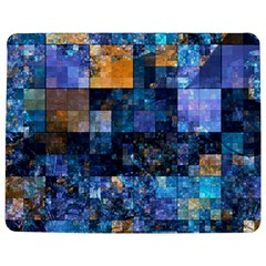 Blue Squares Abstract Background Of Blue And Purple Squares Jigsaw Puzzle Photo Stand (Rectangular)